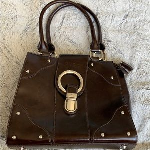 Vintage Gucci red/brown leather Handbag